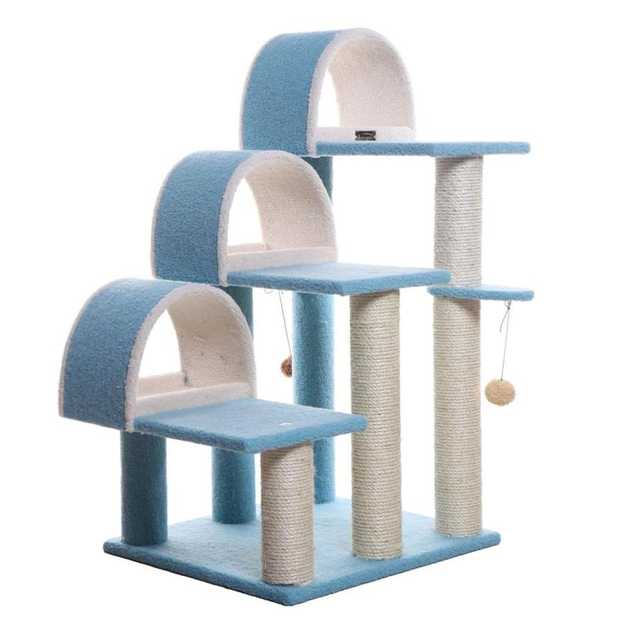 Armarkat 38-in Blue Fleece 3-Level Cat Tree