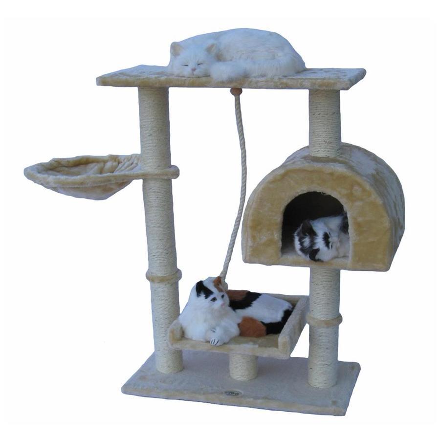 Go Pet Club 36-in Beige Faux Fur 5-Level Cat Tree