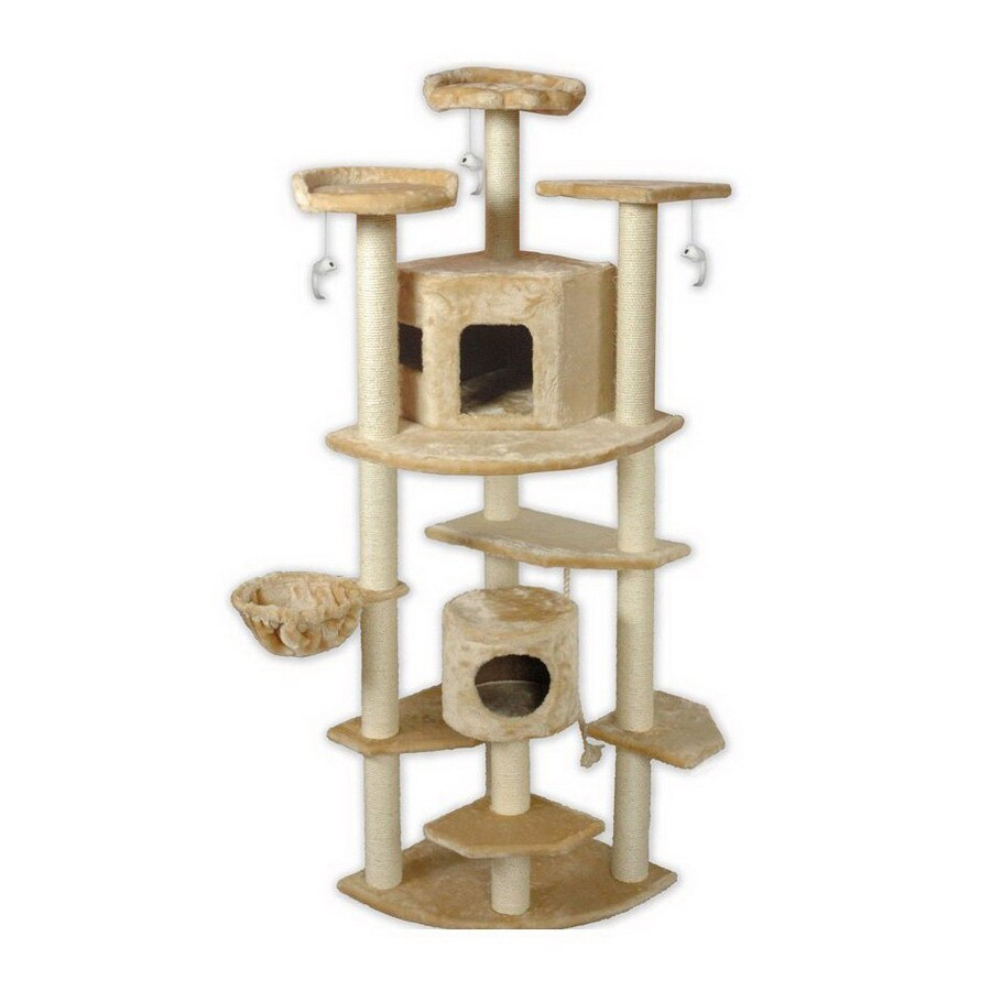 Go Pet Club 80-in Beige Faux Fur 13-Level Cat Tree