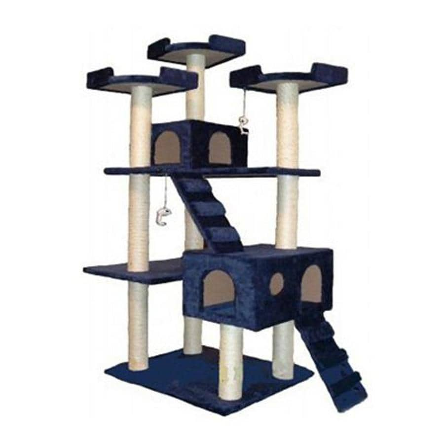 Go Pet Club 72-in Blue Faux Fur 15-Level Cat Tree