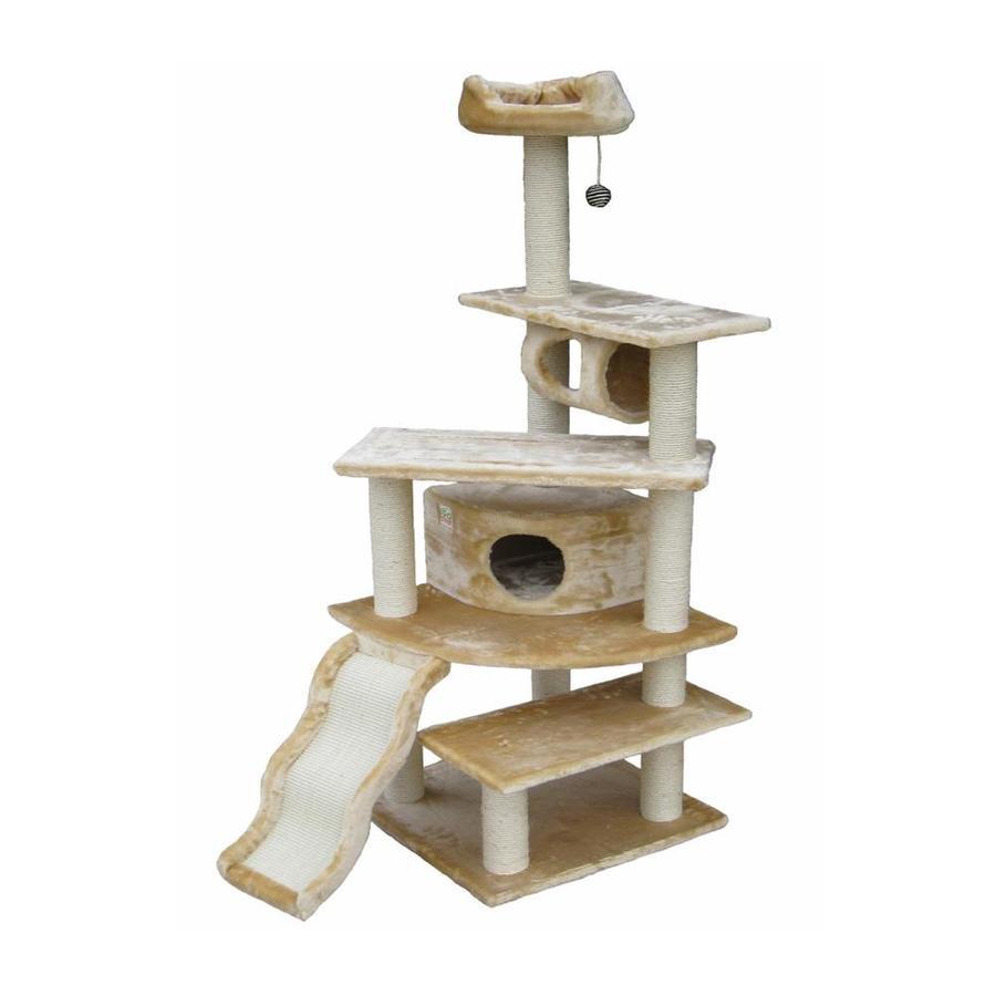 Go Pet Club 70-in Beige Faux Fur 8-Level Cat Tree
