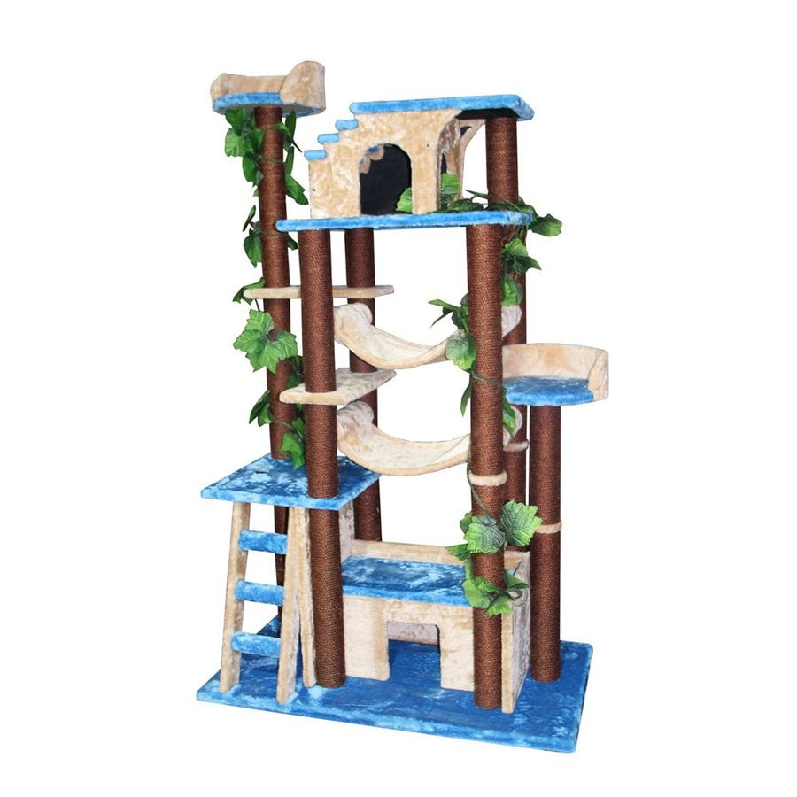 kitty mansions Amazon 78-in Faux Fur Cat Tree