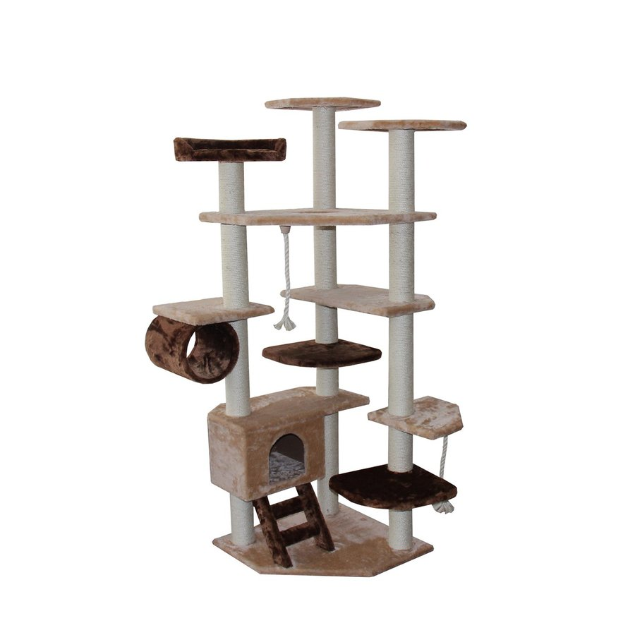 kitty mansions Troy 67-in Faux Fur Cat Tree