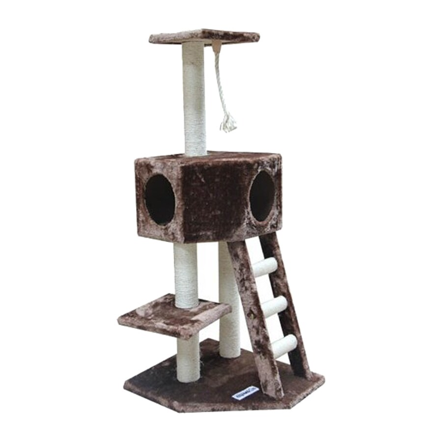 kitty mansions Vegas 50-in Faux Fur Cat Tree