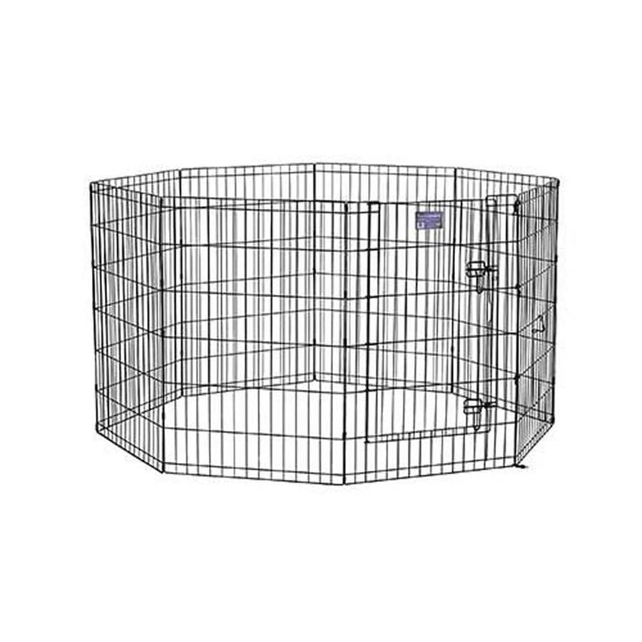 midwest pets 36-in x 24-in Black Metal Indoor/Outdoor Exercise Pen