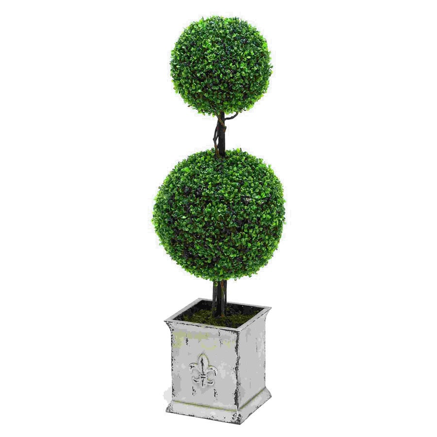 Woodland Imports Indoor/Outdoor Boxwood Decorative Specialty Tree without Lights