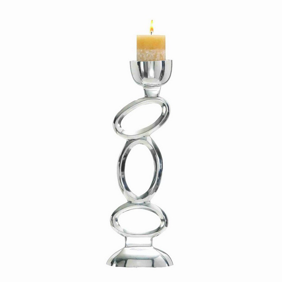 Woodland Imports Rust Free Aluminum Metal Alloy Candle Holder