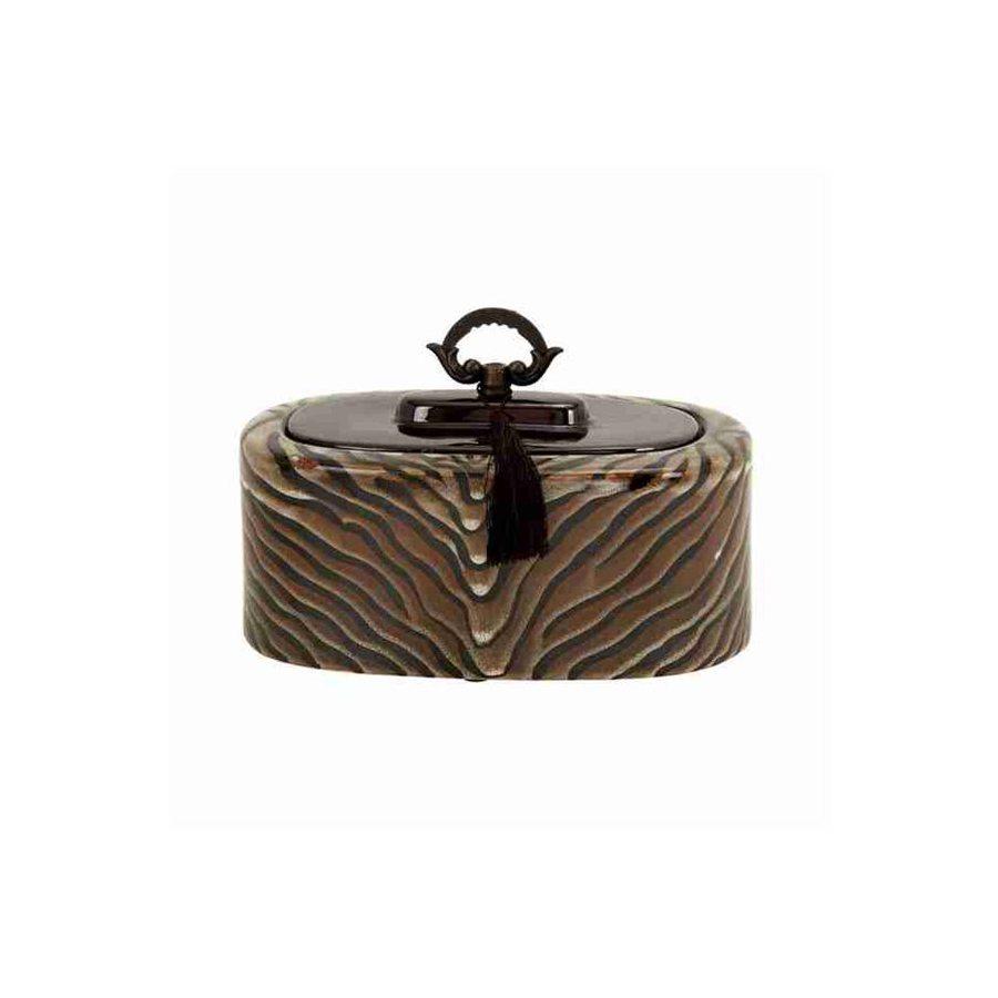 Woodland Imports Oval Ceramic Jar with Handle