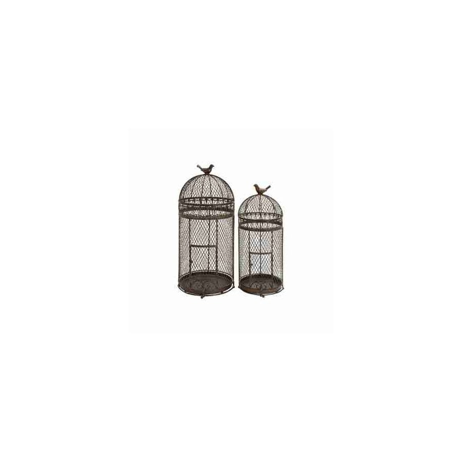 Woodland Imports Set of 2 Rust Free Metal Alloy Bird Cages