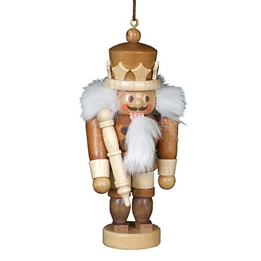Alexander Taron Natural Wood King Nutcracker Ornament