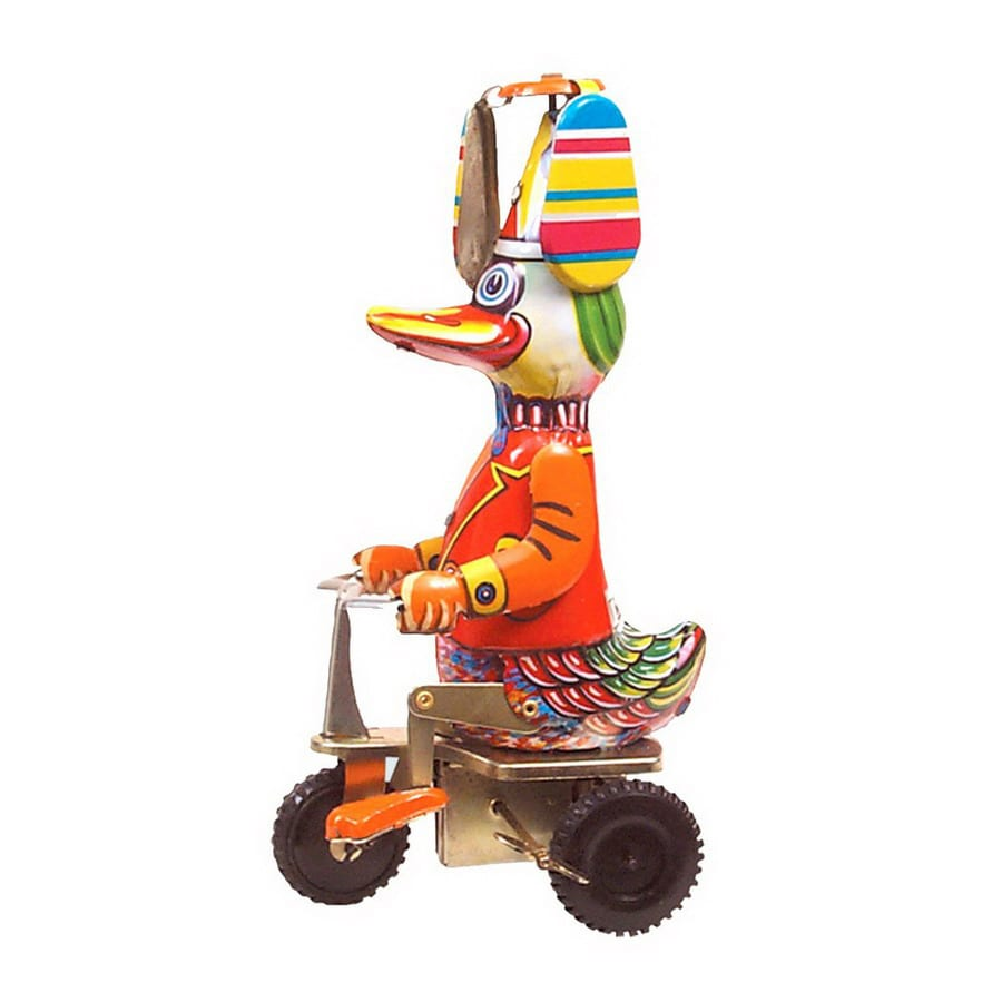 Alexander Taron Tin Wind-Up Duck on Tricycle