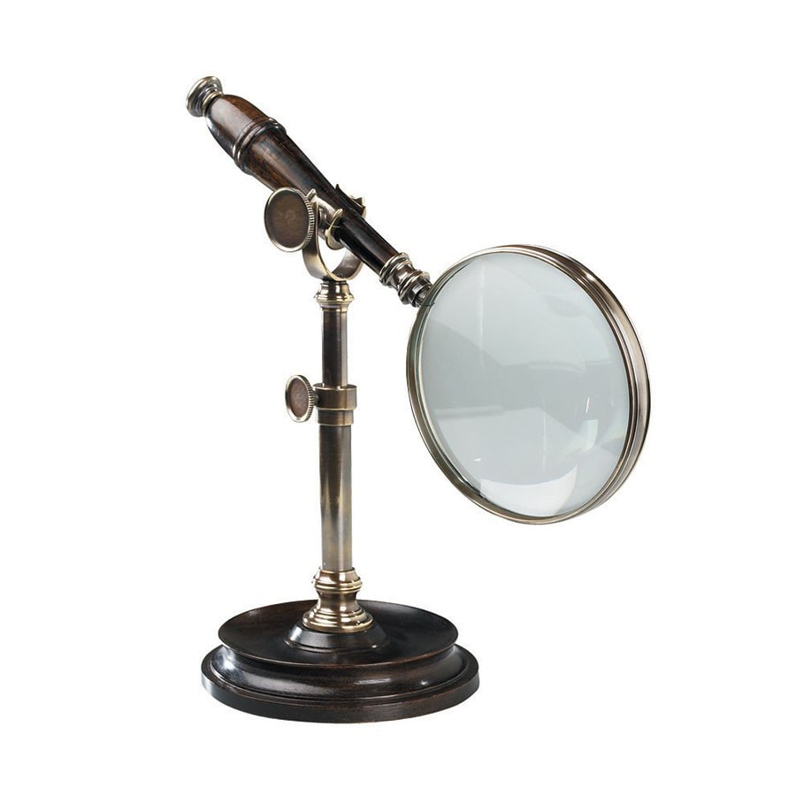 Authentic Models Wood and Glass Magnifying Glass