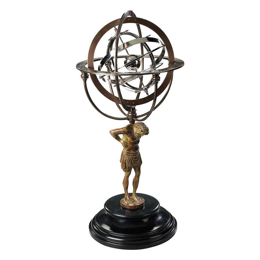 Authentic Models Brass, Aluminum and Granite Atlas Armillary Desk Decoration