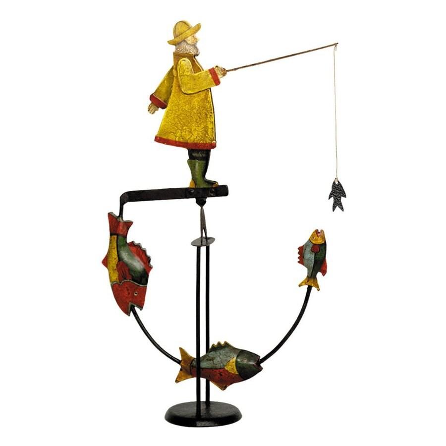 Authentic Models Tin and Iron Fisherman Balance Toy