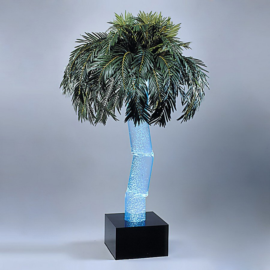 midwest tropical 5.16-ft Aqua Bubbling Palm Artificial Christmas Tree with Multicolor Lights