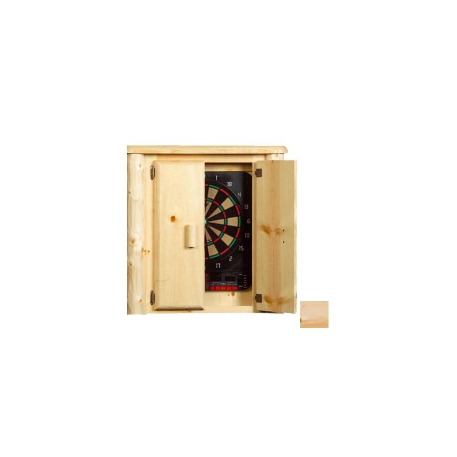 Viking Industries Clear Wood Dartboard Cabinet