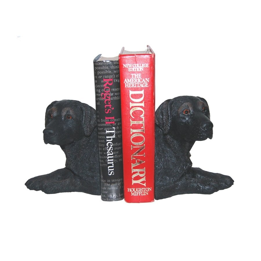 Hickory Manor House Set of 2 Black Lab Resin Bookends