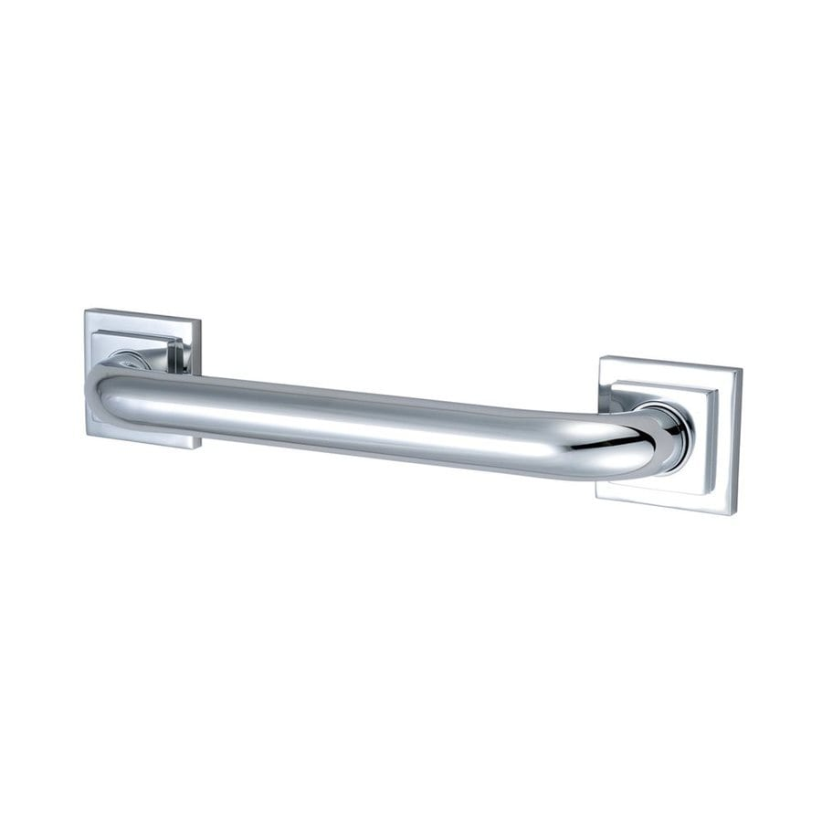 Elements of Design 36-in Chrome Wall Mount Grab Bar