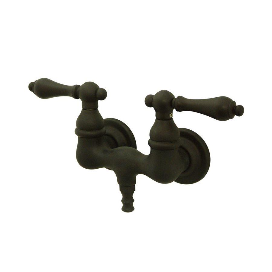 Elements of Design Vintage Oil-Rubbed Bronze 2-Handle-Handle Fixed Clawfoot Tub Filler Bathtub Faucet