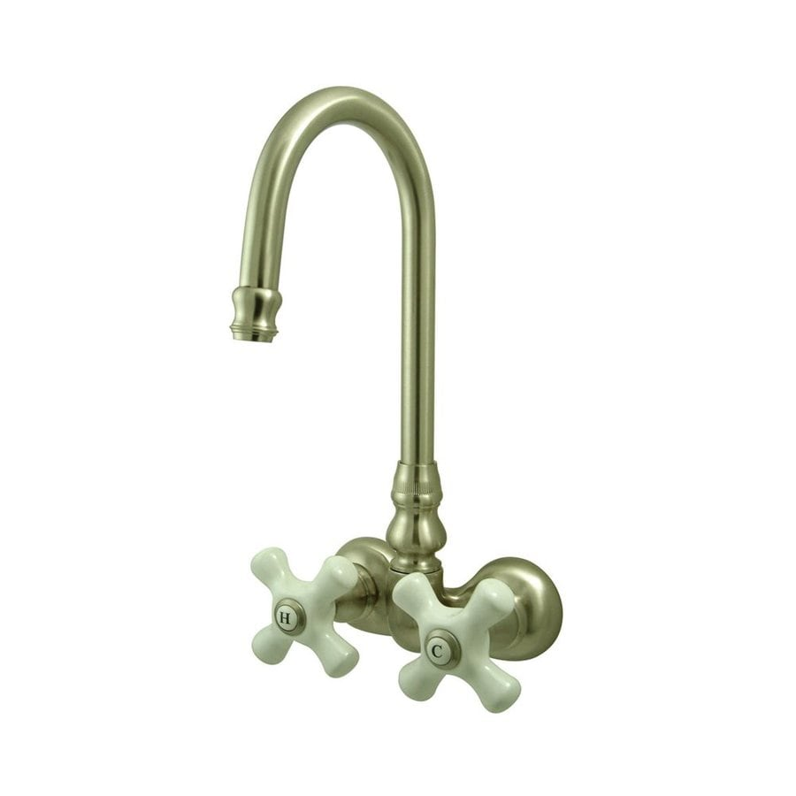 Shop Elements Of Design Hot Springs Satin Nickel 2 Handle Handle Fixed Clawfo