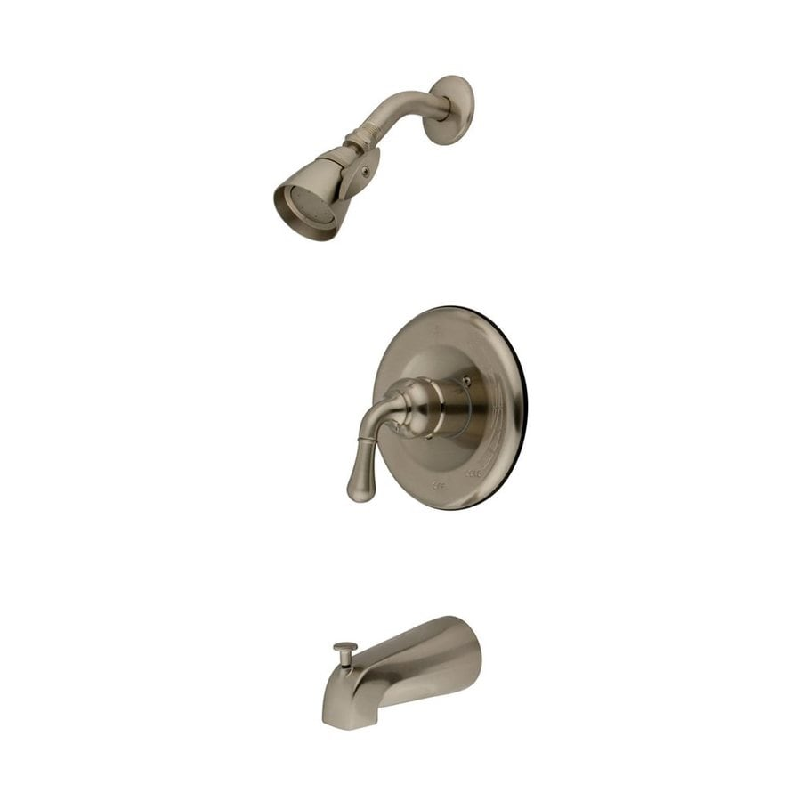 Elements of Design Magellan Satin Nickel 1-Handle Bathtub and Shower Faucet with Single Function Showerhead