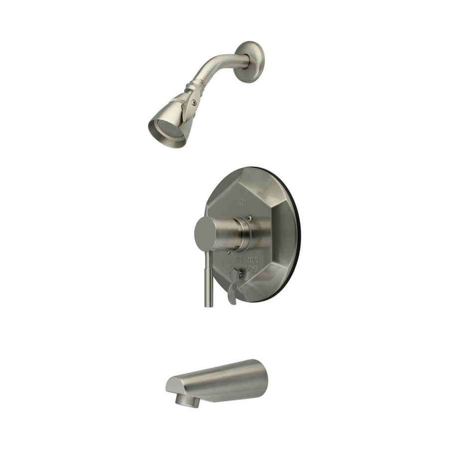 Elements of Design Concord Satin Nickel 1-Handle Bathtub and Shower Faucet with Single Function Showerhead