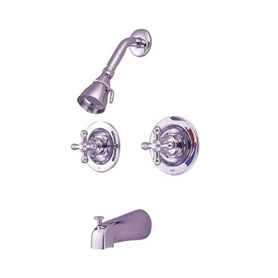 Elements of Design New Orleans Chrome 2-Handle Bathtub and Shower Faucet with Single Function Showerhead