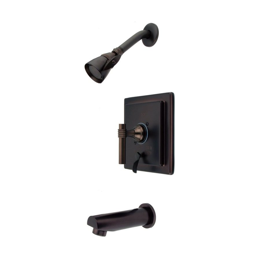 Elements of Design Manhattan Oil-Rubbed Bronze 1-Handle Bathtub and Shower Faucet Trim Kit with Single Function Showerhead