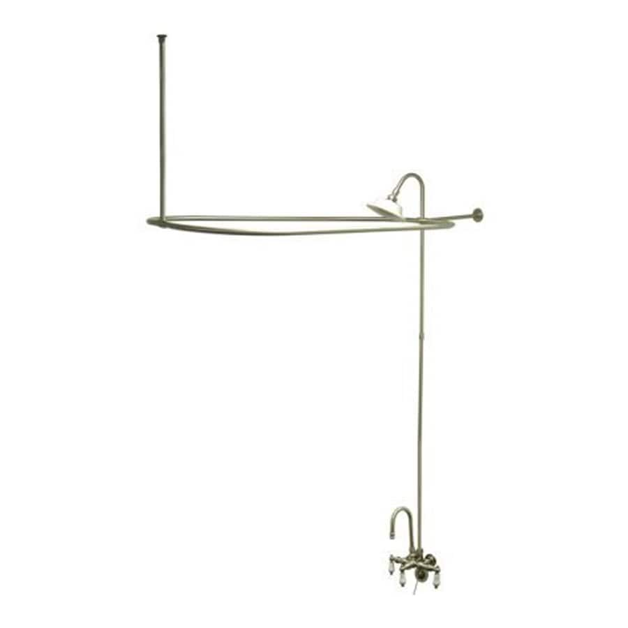 Elements of Design Vintage Satin Nickel 2-Handle Bathtub and Shower Faucet with Single Function Showerhead