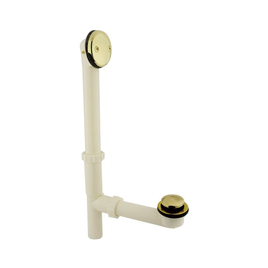 Elements of Design 2-7/8-in Polished Brass Foot Lock with ABS Pipe