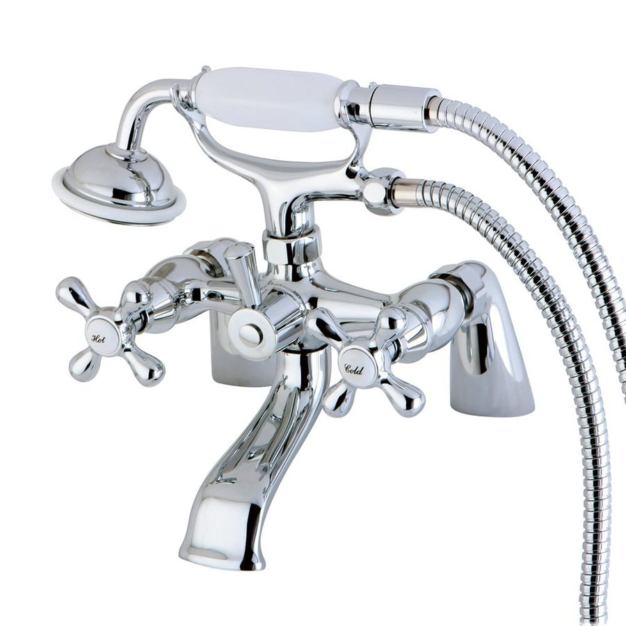 Elements of Design Charleston Chrome 2-Handle Bathtub and Shower Faucet Trim Kit with Handheld Showerhead
