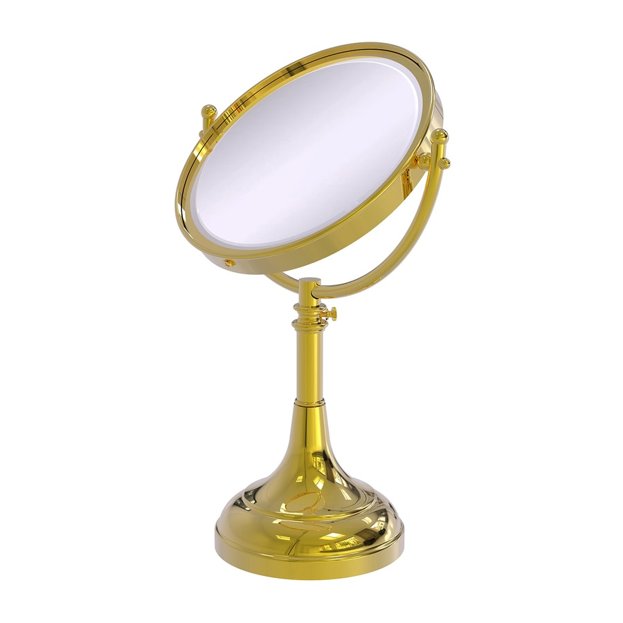 Allied Brass Brass Magnifying Countertop Vanity Mirror