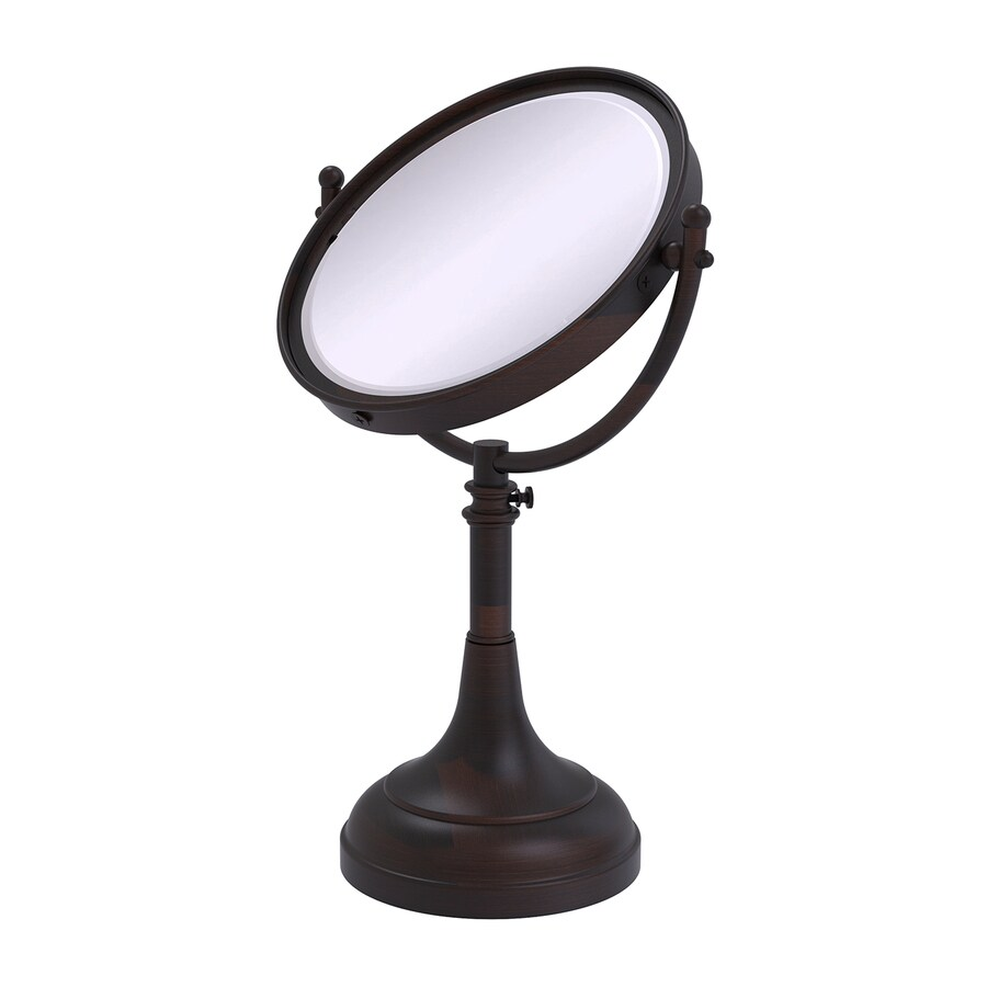 Allied Brass Bronze Brass Magnifying Countertop Vanity Mirror