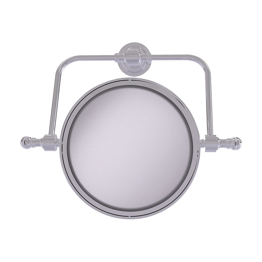 Allied Brass Retro-Dot Chrome Brass Magnifying Wall-Mounted Vanity Mirror