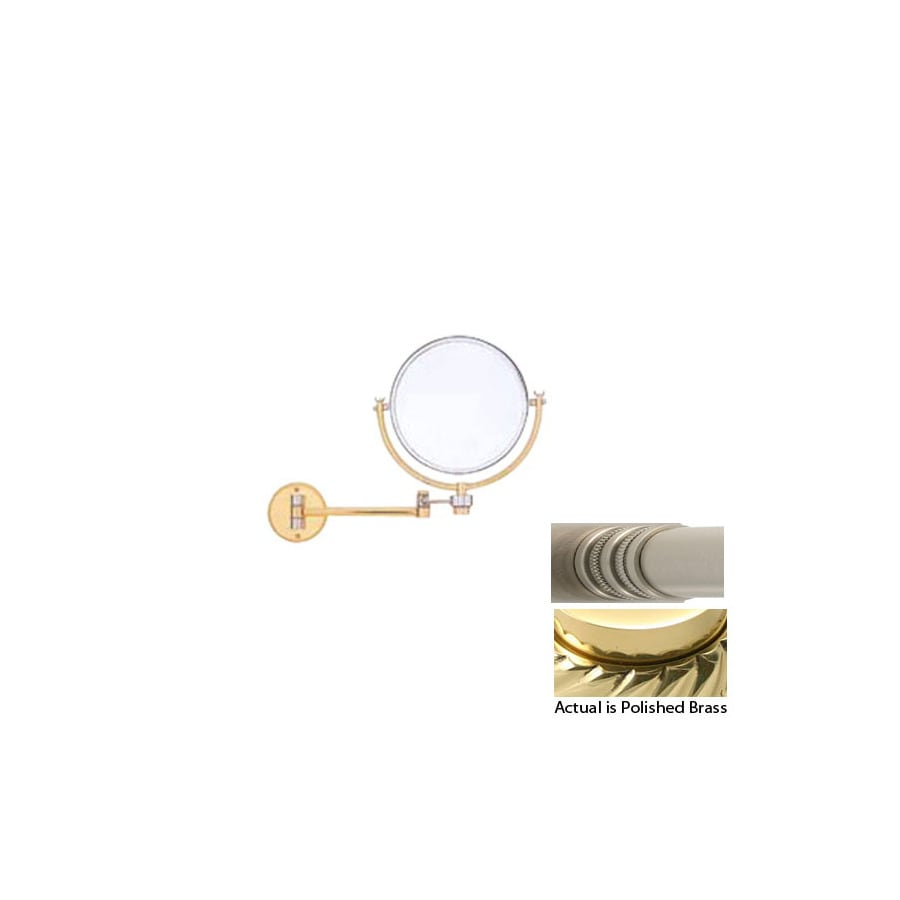 Allied Brass Brass Magnifying Wall-Mounted Vanity Mirror