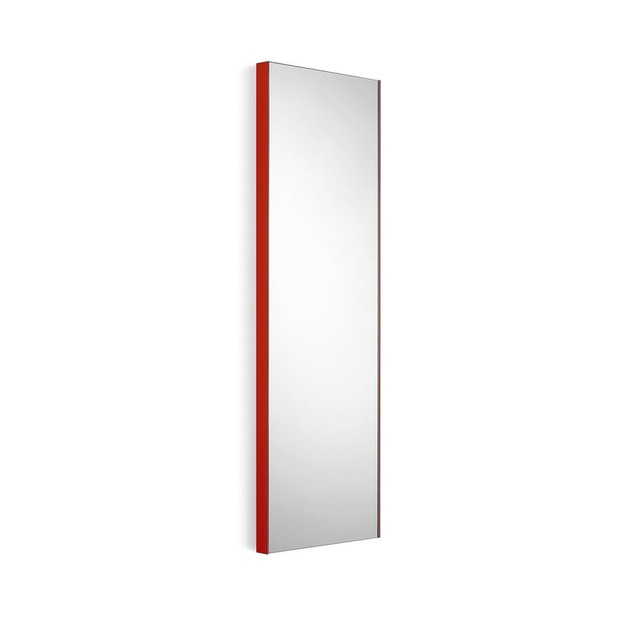 WS Bath Collections Linea 12.8-in W x 39.4-in H Red Rectangular Bathroom Mirror