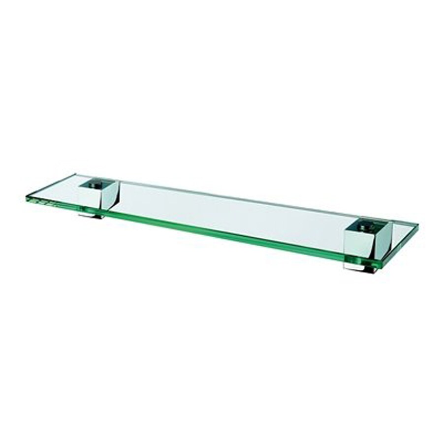 Nameeks Nexx Chrome/Clear Glass Bathroom Shelf