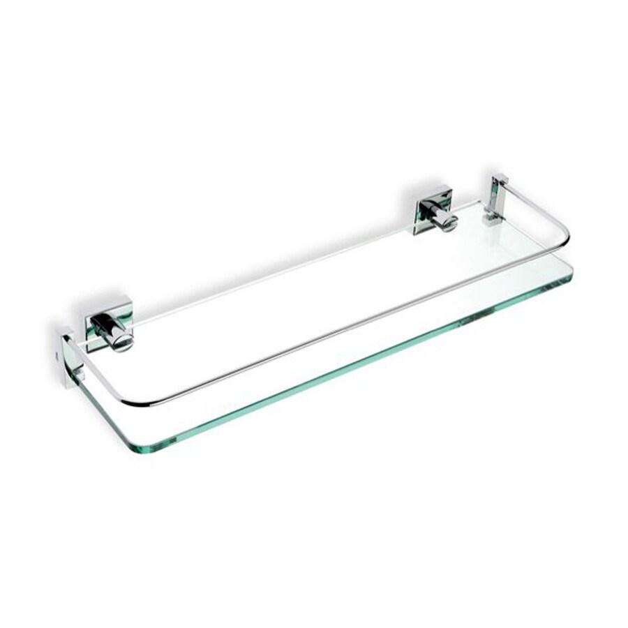 shop nameeks urania chrome glass bathroom shelf at lowes com