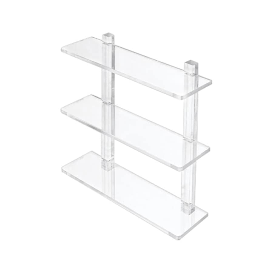 Nameeks Luce 3-Tier Transparent Plastic Bathroom Shelf