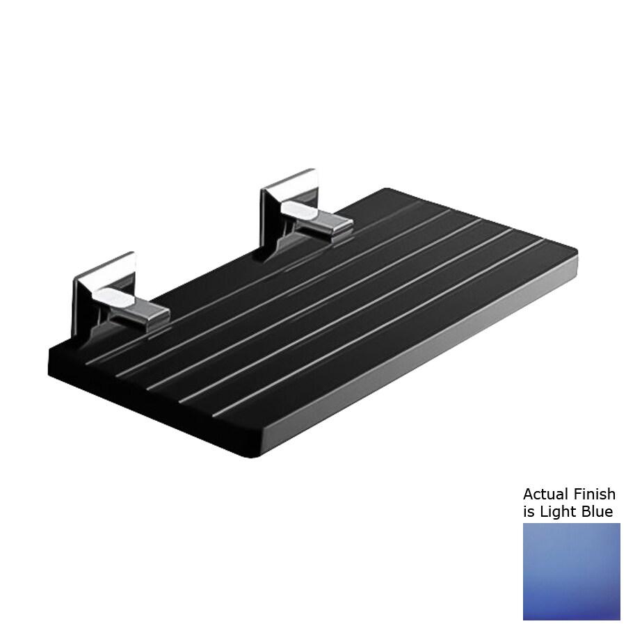 Nameeks Grip Chrome/Light Blue Plastic Bathroom Shelf