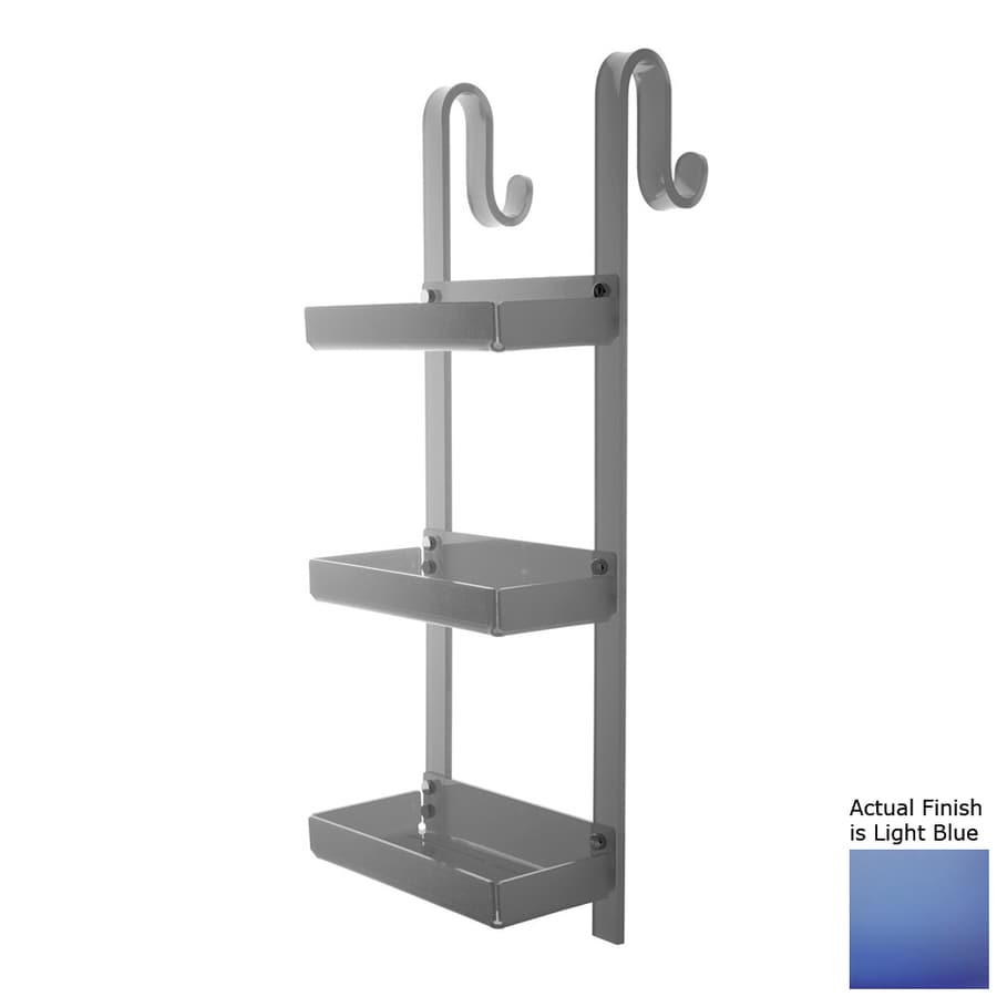 Nameeks Trasparenze 3-Tier Chrome/Light Blue Plastic Bathroom Shelf