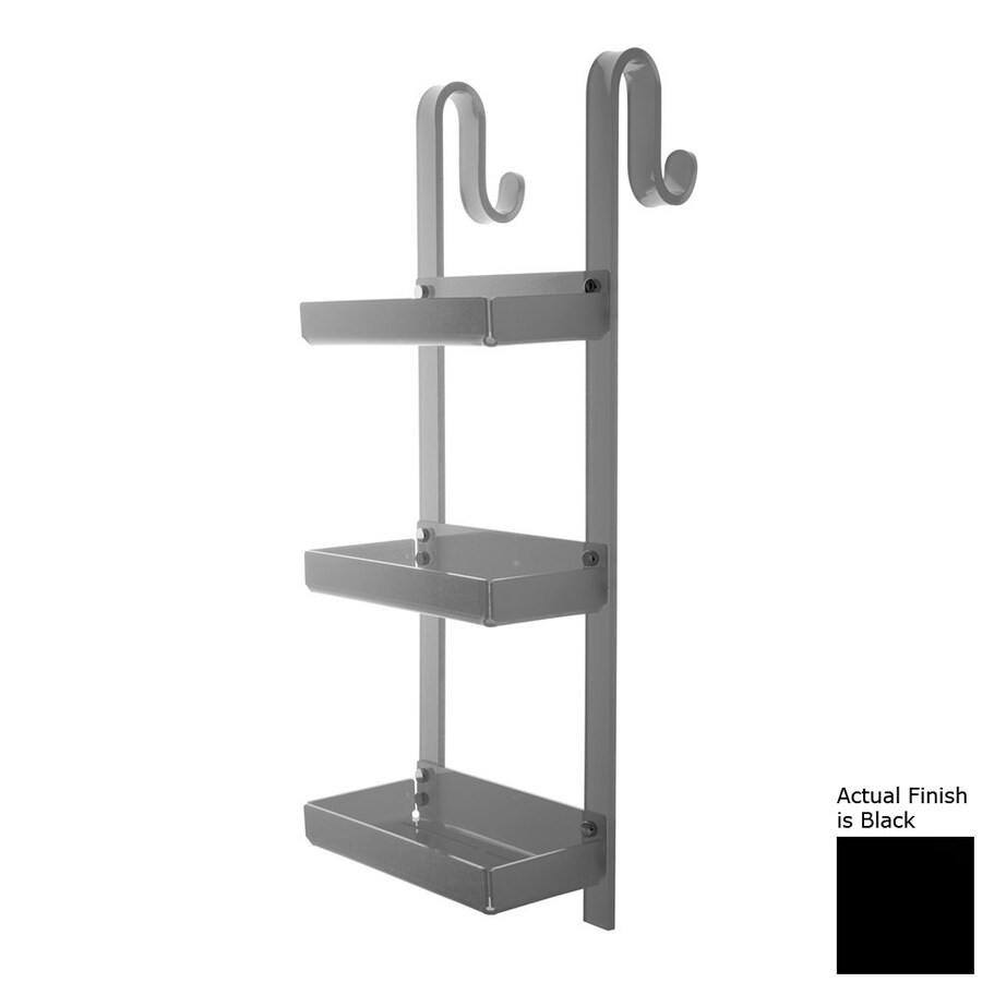 Nameeks Trasparenze 3-Tier Chrome/Black Plastic Bathroom Shelf