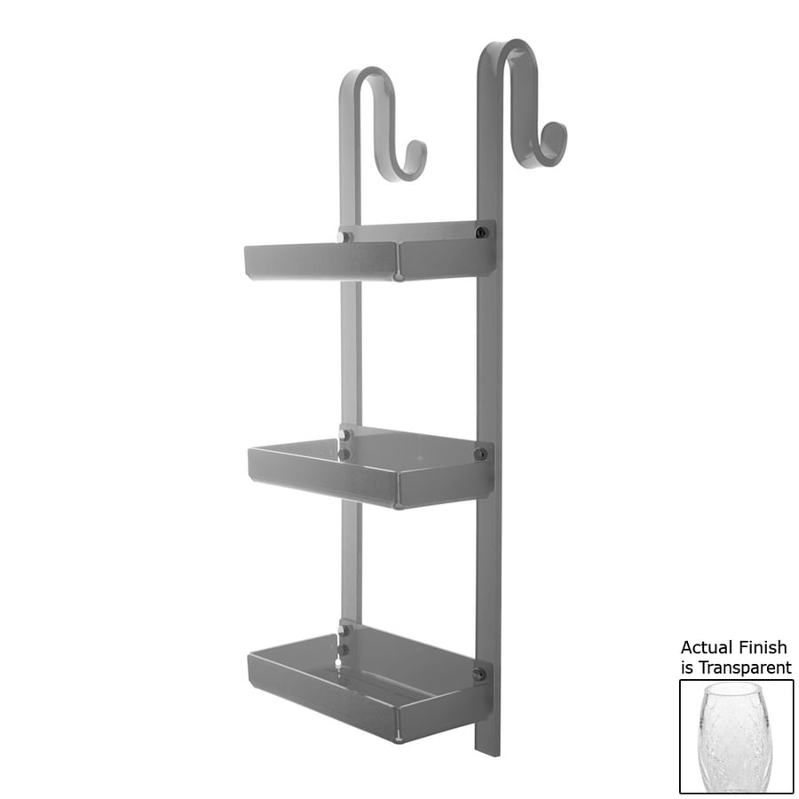 Nameeks Trasparenze 3-Tier Chrome/Transparent Plastic Bathroom Shelf