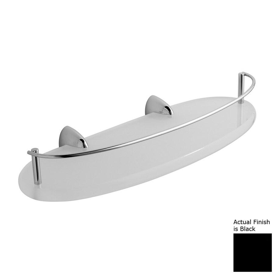 Nameeks Kor Chrome/Black Plastic Bathroom Shelf