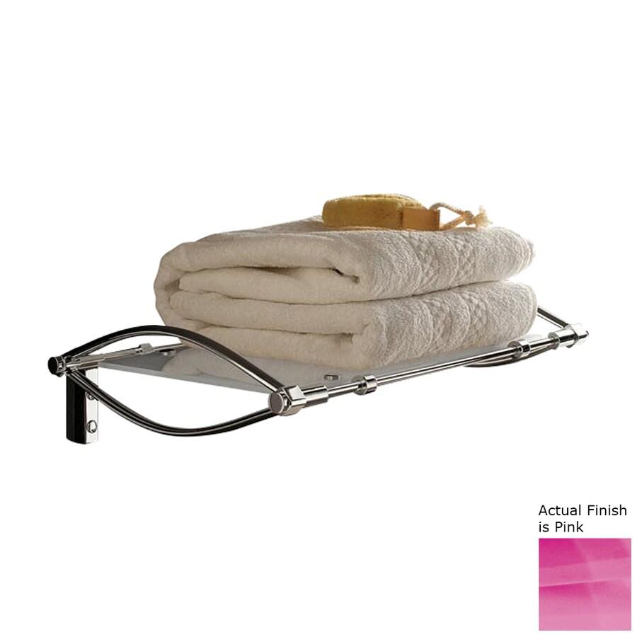 Nameeks Kor Chrome/Pink Plastic Bathroom Shelf