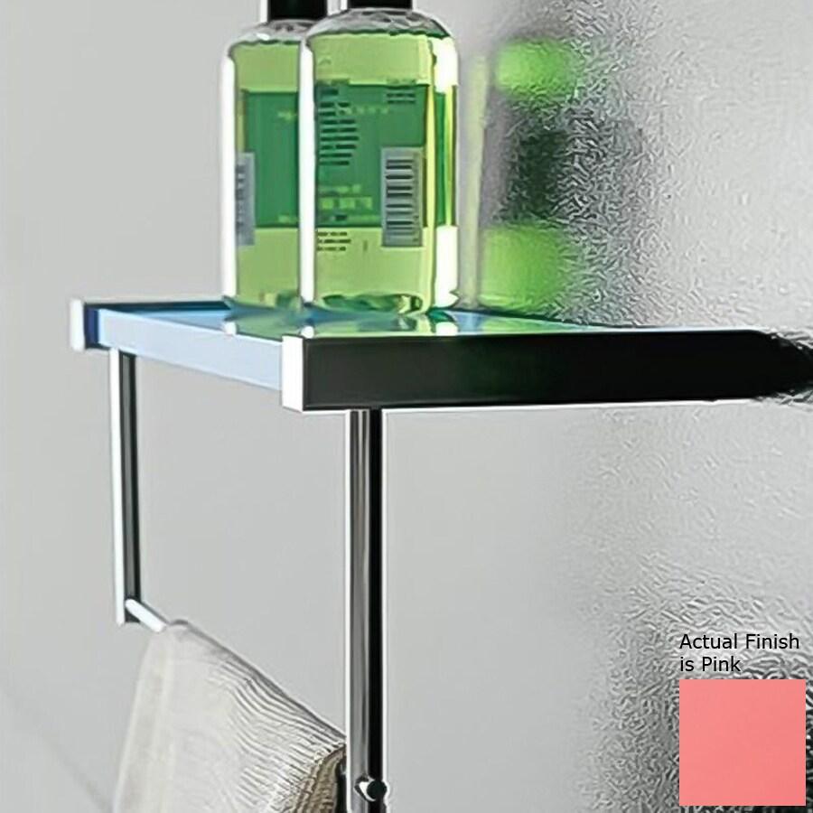 Nameeks Eden Chrome/Pink Plastic Bathroom Shelf