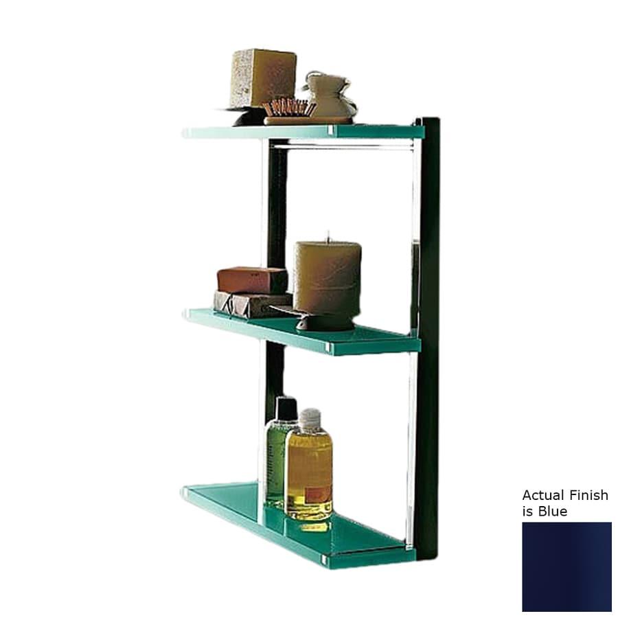 Nameeks Eden 3-Tier Chrome/Blue Plastic Bathroom Shelf