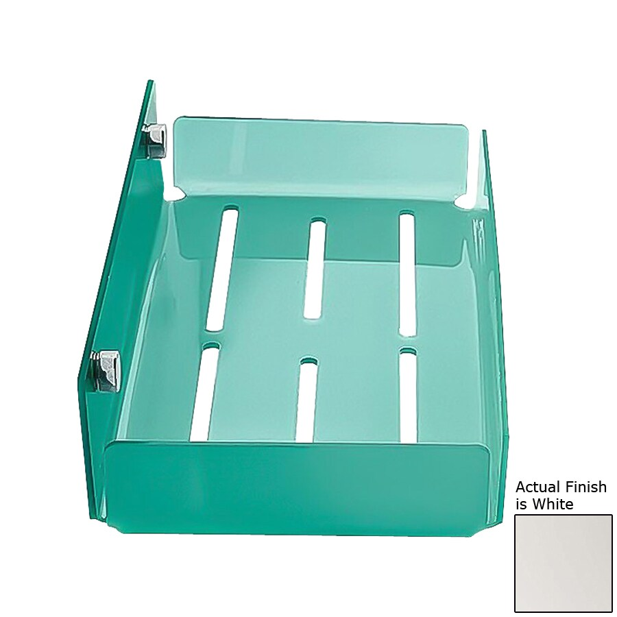 Nameeks Corner Chrome/White Plastic Bathroom Shelf