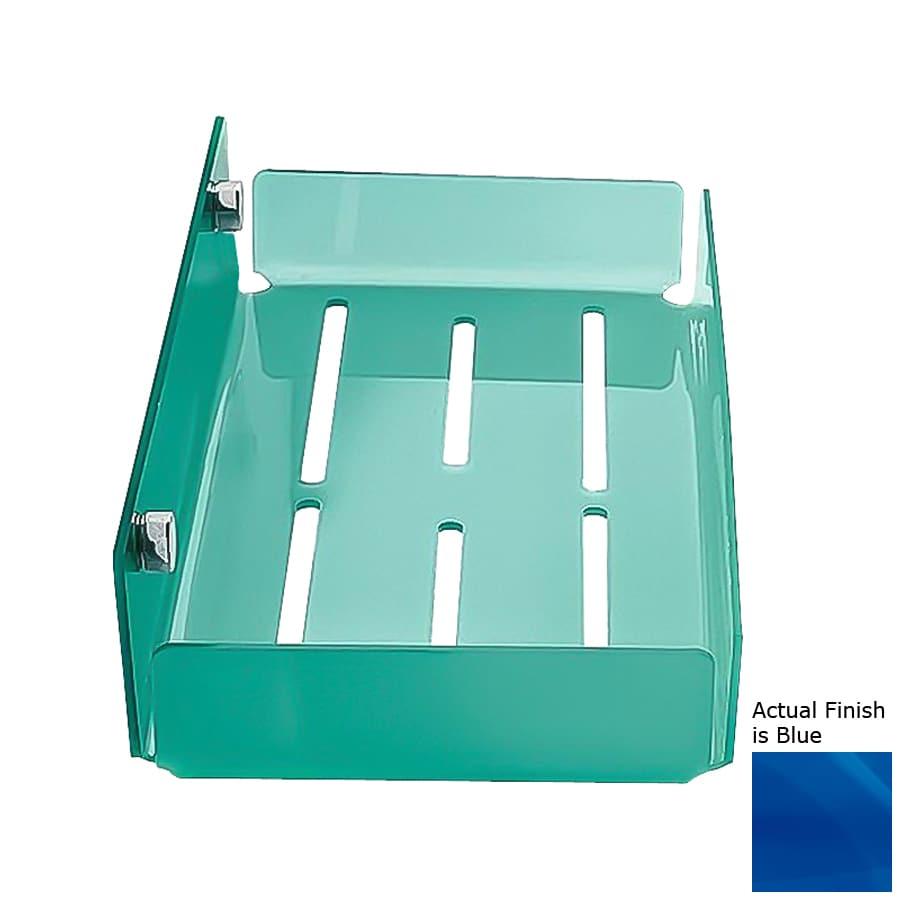 Nameeks Corner Chrome/Blue Plastic Bathroom Shelf