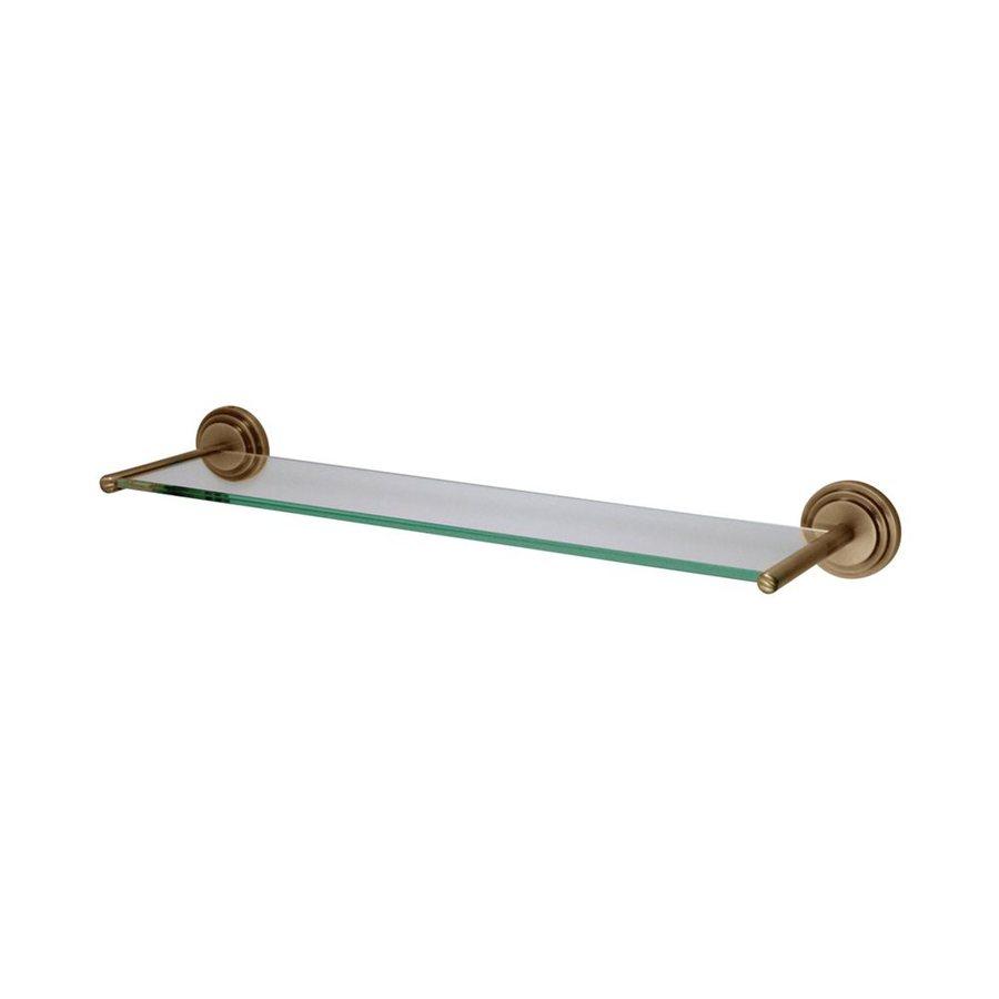 Elements of Design Milano Vintage Brass and Glass Bathroom Shelf